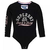 [해외]슈퍼드라이 Track & Field Bodysuit Black Track