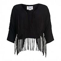 [해외]슈퍼드라이 Lacy Fringed Kimono Top Black