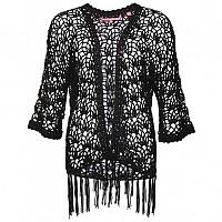 [해외]슈퍼드라이 Sunset Crochet Kimono Midnight Black