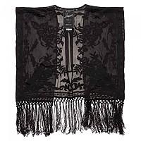 [해외]슈퍼드라이 Vintage Folk Stitch Kimono Top Black