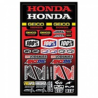 [해외]100% Sticker Geico/Honda