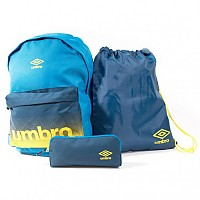 [해외]엄브로 BTS Backpack/Gymsack/Pencil Case Electric Blue / Navy Peony / Blazing Yellow