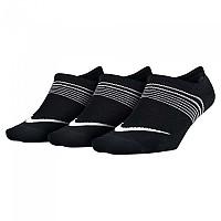 [해외]나이키 Everyday Plus Lightweight Footie 3 Pair Black / White