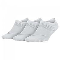 [해외]나이키 Everyday Plus Lightweight Footie 3 Pair White / Wolf Grey