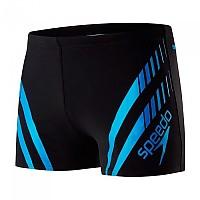 [해외]SPEEDO Sport Panel Black / Neon Blue