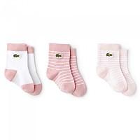[해외]라코스테 LIVE RA3542 3 Pair Pink / White