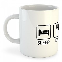 [해외]KRUSKIS Mug Sleep Eat And Ride White