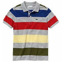 [해외]라코스테 Colored Stripes Grey / Multicolor