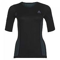[해외]오들로 Performance Windshield Cycling T-Shirt S/S Crew Neck Black / Blue Radiance