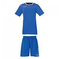 [해외]UHLSPORT Match Team Kit Shirt&Shorts Ss Women Azurblue / White