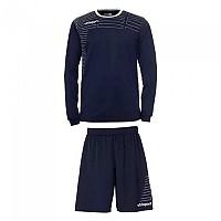 [해외]UHLSPORT Match Team Kit Shirt&Shorts Ls Women Navy / White
