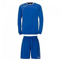 [해외]UHLSPORT Match Team Kit Shirt&Shorts Ls Women Azurblue / White