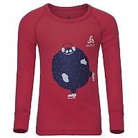 [해외]오들로 Warm Trend Small Shirt L/S Crew Neck Hibiscus / Placed Print Fw18