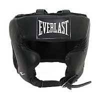 [해외]EVERLAST EQUIPMENT Leather Pro Trad Headgear Black