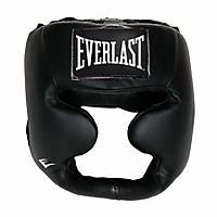 [해외]EVERLAST EQUIPMENT Leather Full Protection Headgear Black