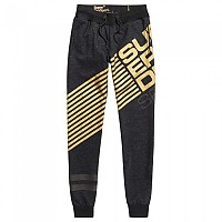[해외]슈퍼드라이 Diagonal Black Gold Jogger Mid Night Black