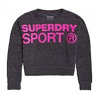 [해외]슈퍼드라이 Active Batwing Crop Black Marl / Super Pink