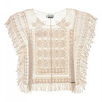 [해외]슈퍼드라이 Lacy Fringe Throw On Top Off White