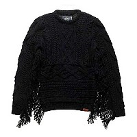 [해외]슈퍼드라이 West Tassel Jumper Black