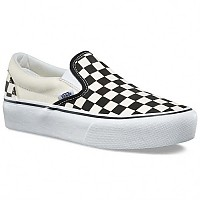 [해외]반스 UA Classic Slip On Platform Black And White Checker / White