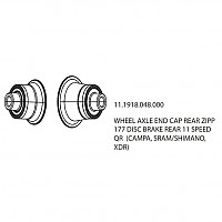 [해외]ZIPP Rear Caps 177 Disc QR
