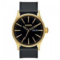 [해외]닉슨 Sentry Leather 135986548 Gold / Black