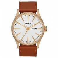 [해외]닉슨 Sentry Leather 136947242 Gold / White / Saddle