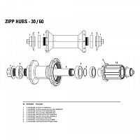[해외]ZIPP Axle With End Cap Front 30/60 Black
