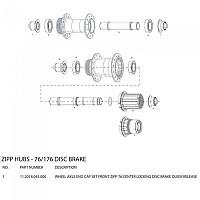 [해외]ZIPP 76 Centerlock Disc Brake Front Hub End Cap Set Black