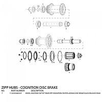 [해외]ZIPP End Caps For Cognition Disc Rear Hubs 스램 Black