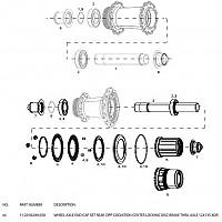 [해외]ZIPP End Cap Set Rear Cognition Center Locking Disc Brake 스램 XDR Black