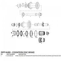[해외]ZIPP End Caps For Cognition Disc Rear Hubs 스램 XDR Black