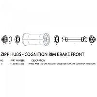 [해외]ZIPP Right End Cap for Cognition Rear Hubs 시마노/스램 Road Black