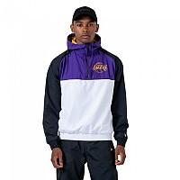 [해외]뉴에라 NBA Windbreaker Los Angeles Lakers White / Black / True Purple