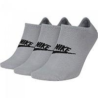 [해외]나이키 Sportswear Everyday Essential No Show 3 Pair Wolf Grey / Black