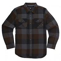 [해외]반스 Box Flannel Boys Black / Asphalt
