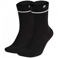 [해외]나이키 Sneaker Sox Essential Crew 2 Pair Black / White / White