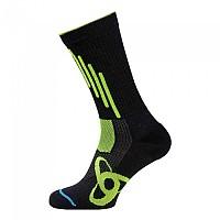 [해외]오들로 Allround Light Socks Long Black / Safety Yellow