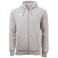 [해외]엄브로 Fleece Zip Through Small Logo Grey Marl / White