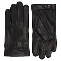 [해외]타미힐피거 SPORTSWEAR Logo Embossed Leather Black
