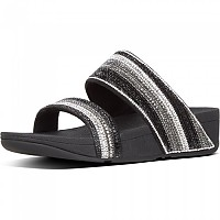[해외]핏플랍 Rosa Crystal Mosaic Slides Black