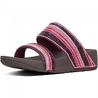[해외]핏플랍 Rosa Crystal Mosaic Slides Dark Red