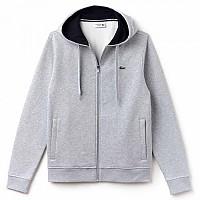 [해외]라코스테 Hooded Zippered Sweatshirt Fleece Silver Chine / Navy Blue