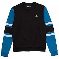 [해외]라코스테 Sport Striped Sleeves Fleece Black / Illumination Silver Chine