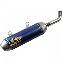 [해외]FMF Power코어 2.1 숏y Slip On Titanium TC250/TX300/250SX/250XC/350XC 19 Blue