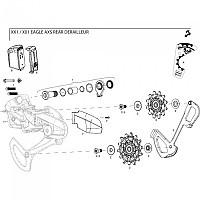 [해외]스램 Rear Derailleur Cover Kit Clutch X01 Eagle Black