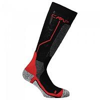 [해외]CMP Ski Sock Wool Nero / Ferrari