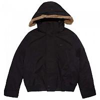 [해외]라코스테 Detachable Fake Fur Quilted Short Black / Graphite