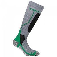 [해외]CMP Ski Sock Wool Graffite Melange / Emerald
