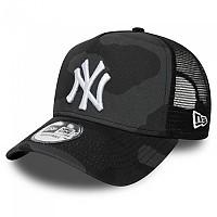 [해외]뉴에라 New York Yankees Camo Essential Aframe Trucker Green Med